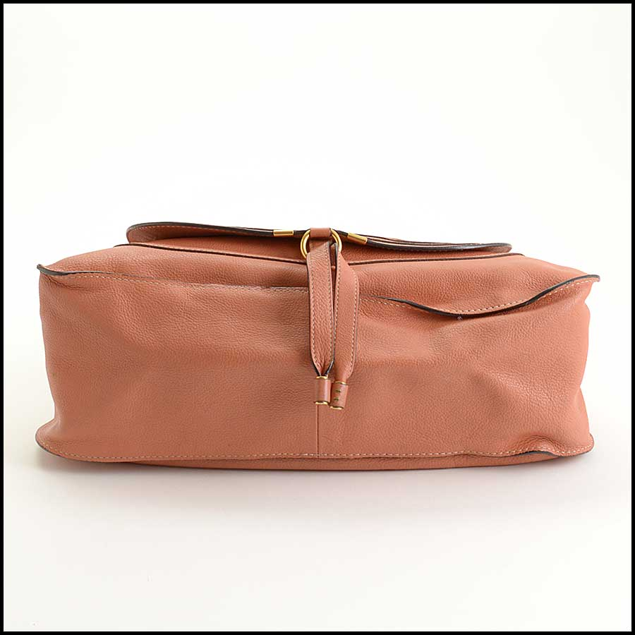 RDC11355 Chloe Salmon Leather Large Marcie Tote bottom