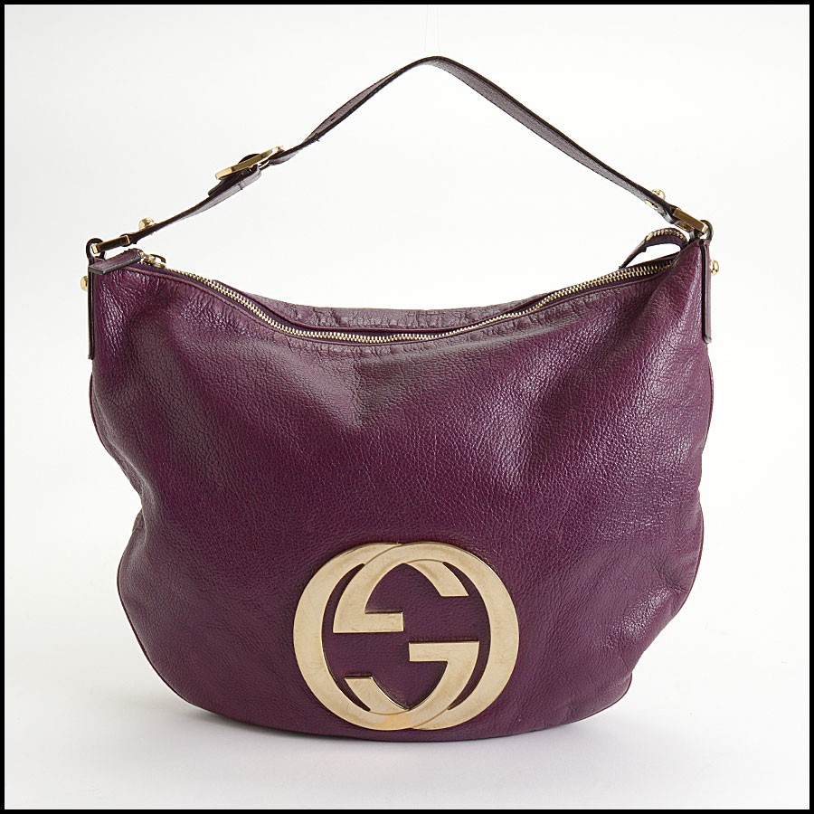 RDC10405 Gucci Purple Goatskin Hobo Bag