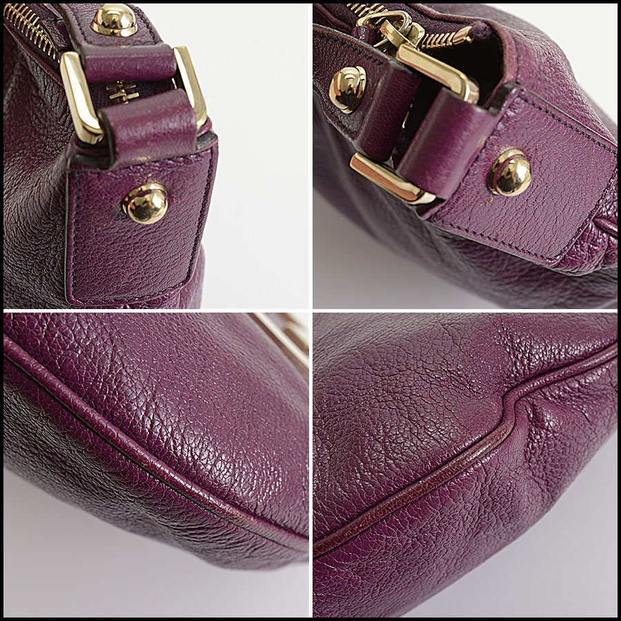 RDC10405 Gucci Purple Goatskin Hobo Bag corners