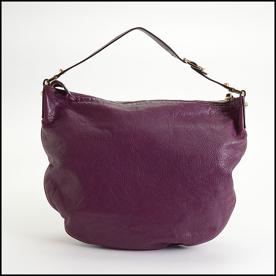 RDC10405 Gucci Purple Goatskin Hobo Bag back
