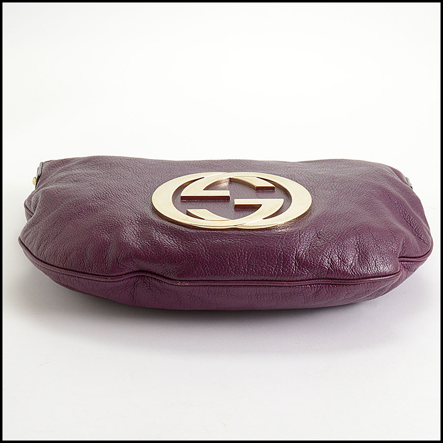 RDC10405 Gucci Purple Goatskin Hobo Bag bottom