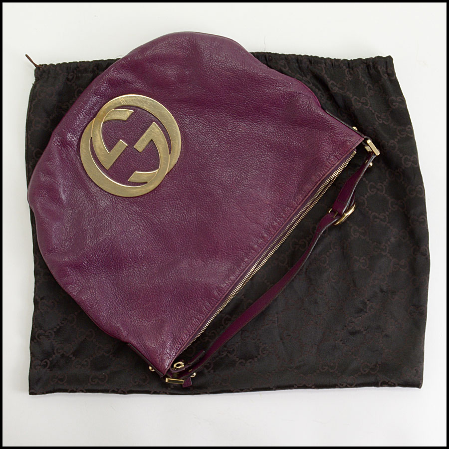 RDC10405 Gucci Purple Goatskin Hobo Bag includes