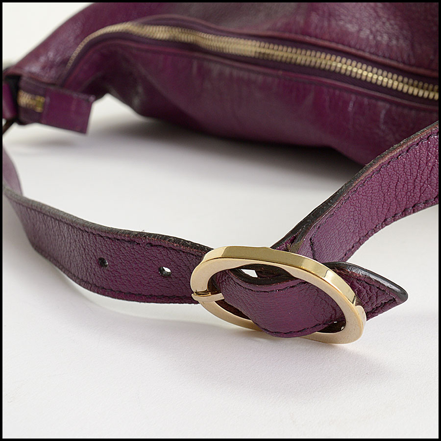 RDC10405 Gucci Purple Goatskin Hobo Bag handle