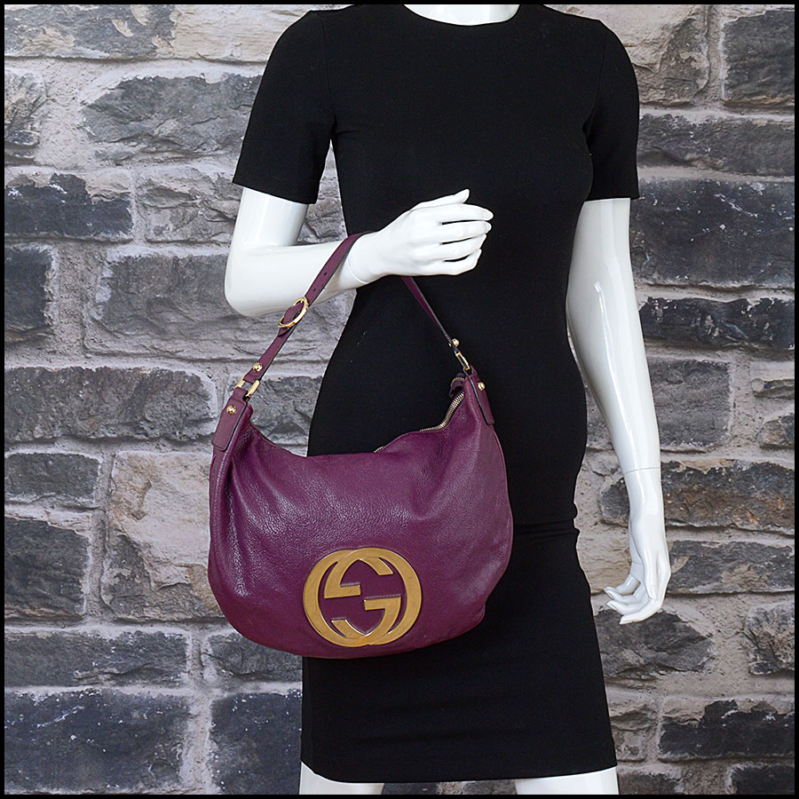 RDC10405 Gucci Purple Goatskin Hobo Bag model