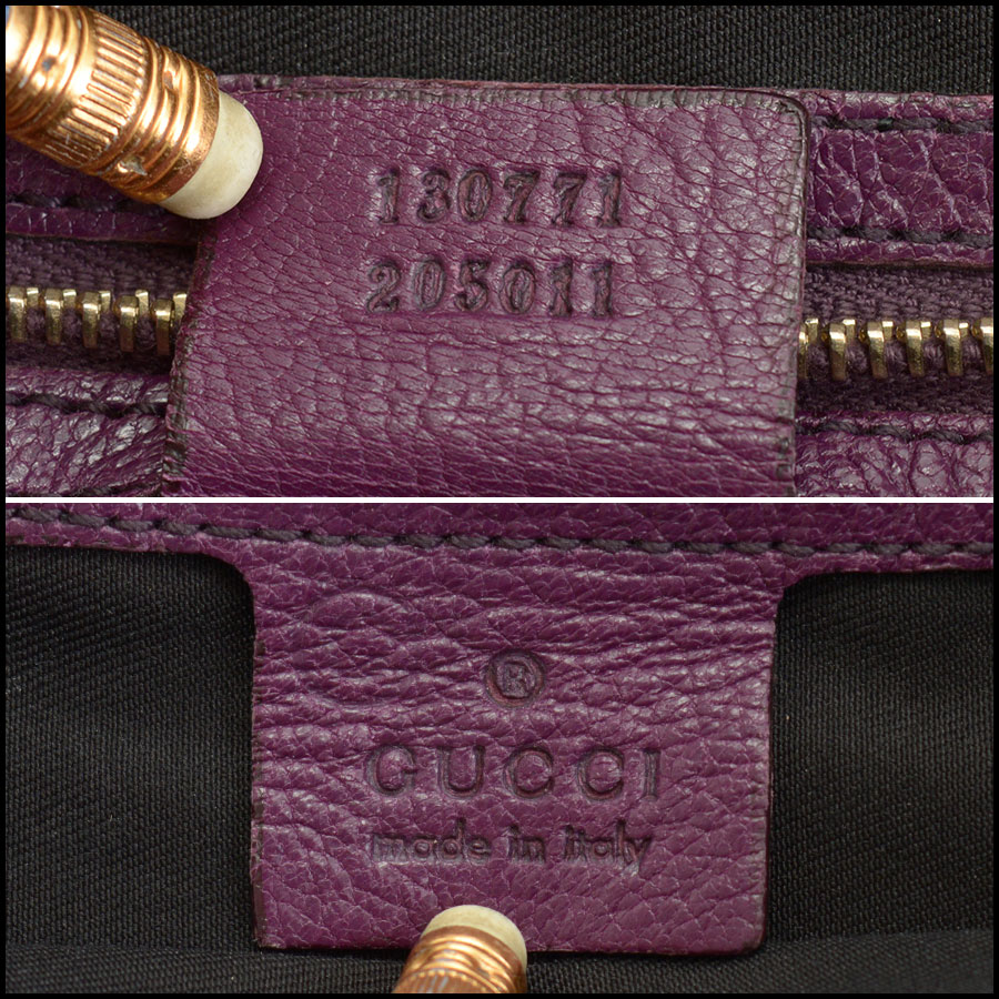RDC10405 Gucci Purple Goatskin Hobo Bag tag 2