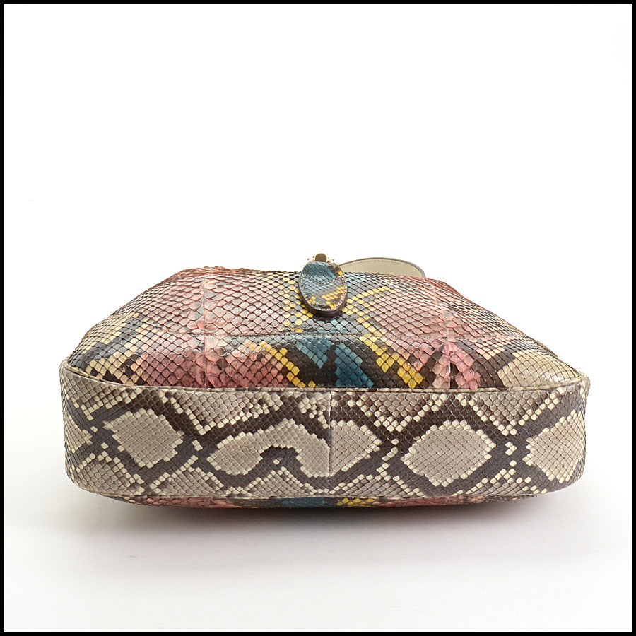 RDC10869 Gucci 2014 Multicolor Python Jackie Hobo Bag bottom