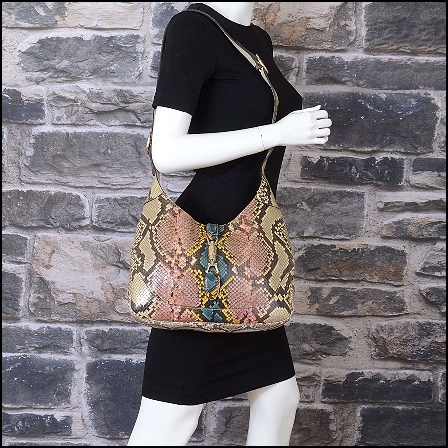 RDC10869 Gucci 2014 Multicolor Python Jackie Hobo Bag model