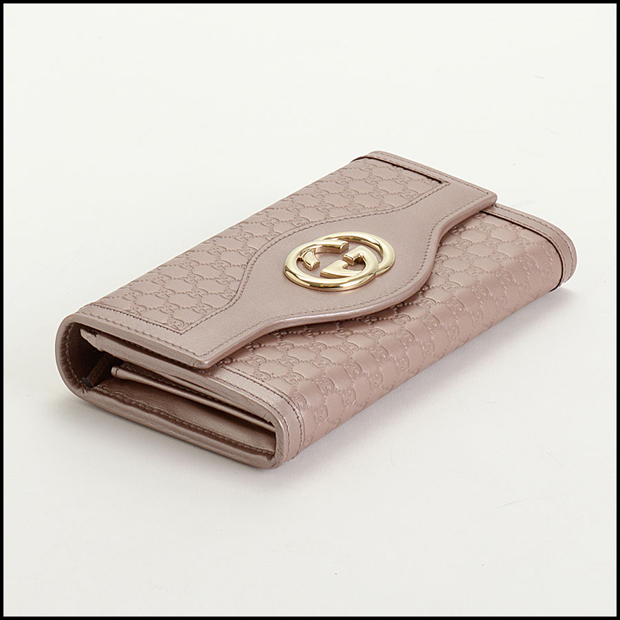 RDC10838 Gucci Pink Sukey Flap Wallet bottom