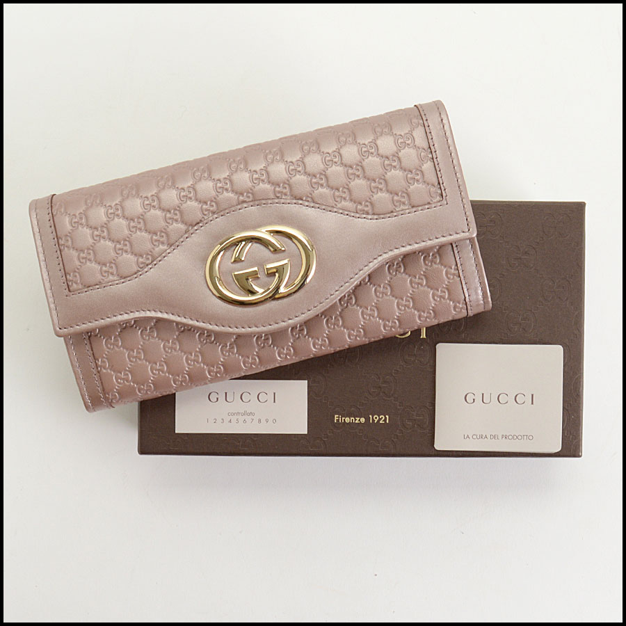 RDC10838 Gucci Pink Sukey Flap Wallet includes
