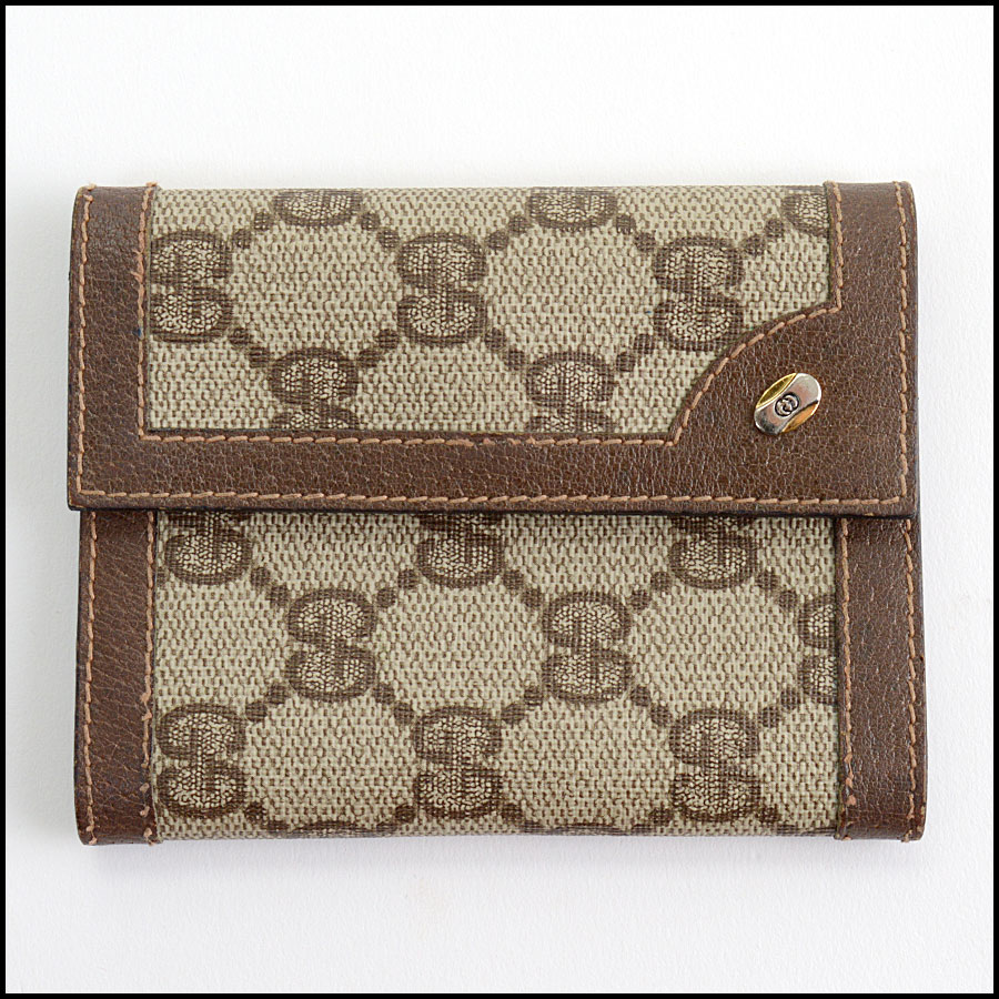 RDC11088 Gucci Vintage Coated Canvas Address Book