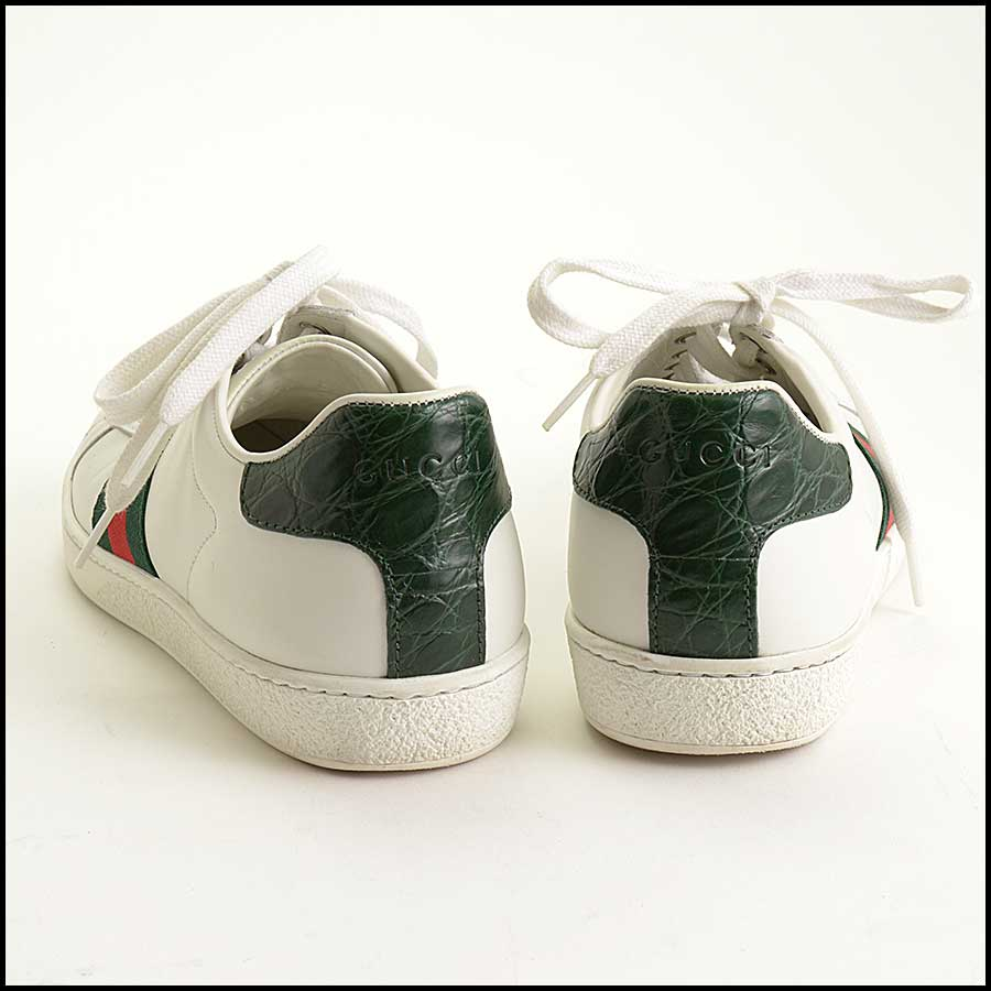 RDC11389 Gucci White Leather Ace Sneakers Size 37 back