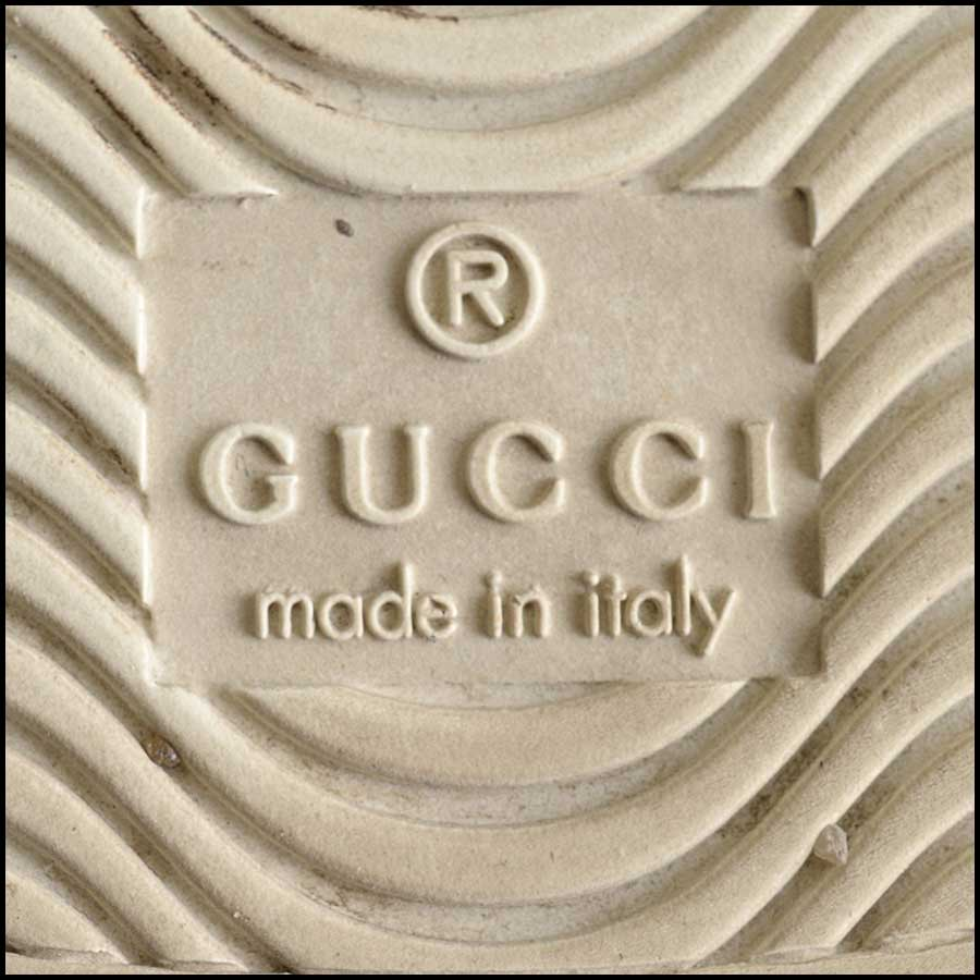 RDC11389 Gucci White Leather Ace Sneakers Size 37 tag 1
