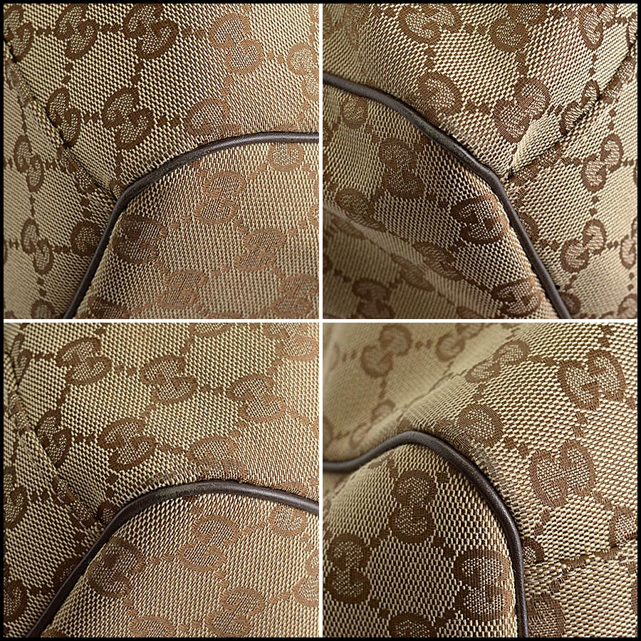 RDC11207 Gucci GG Logo Canvas Sukey Large Tote corners