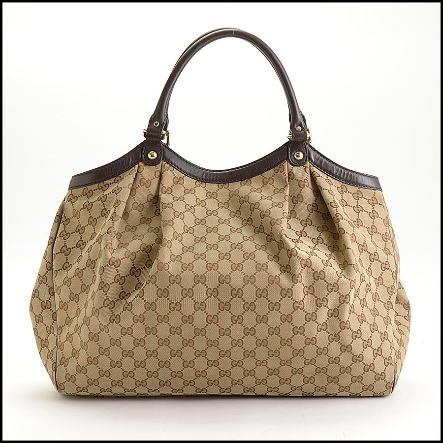 RDC11207 Gucci GG Logo Canvas Sukey Large Tote back