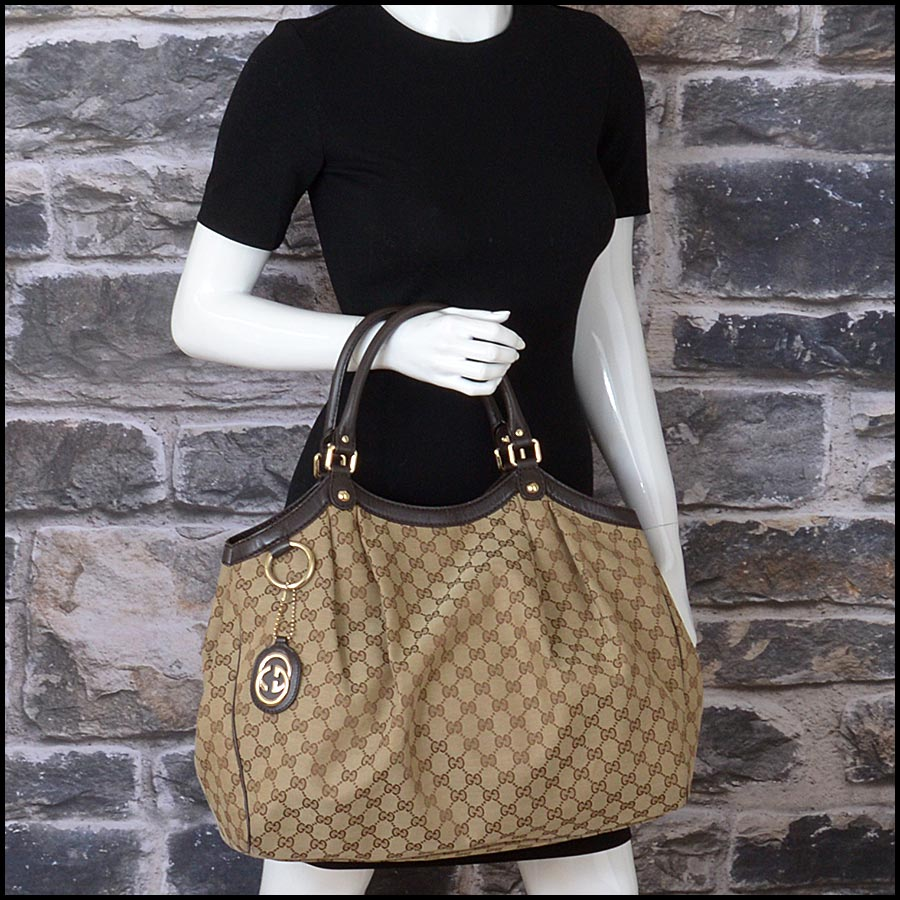 RDC11207 Gucci GG Logo Canvas Sukey Large Tote model