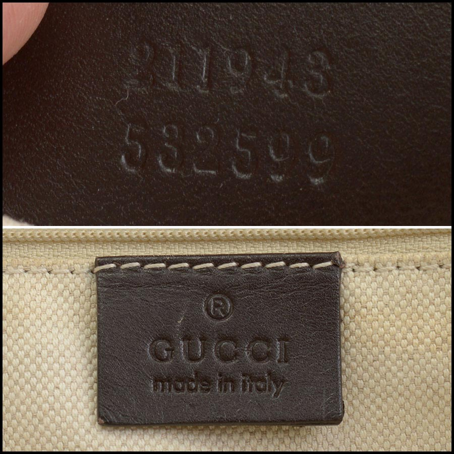 RDC11207 Gucci GG Logo Canvas Sukey Large Tote tag 1