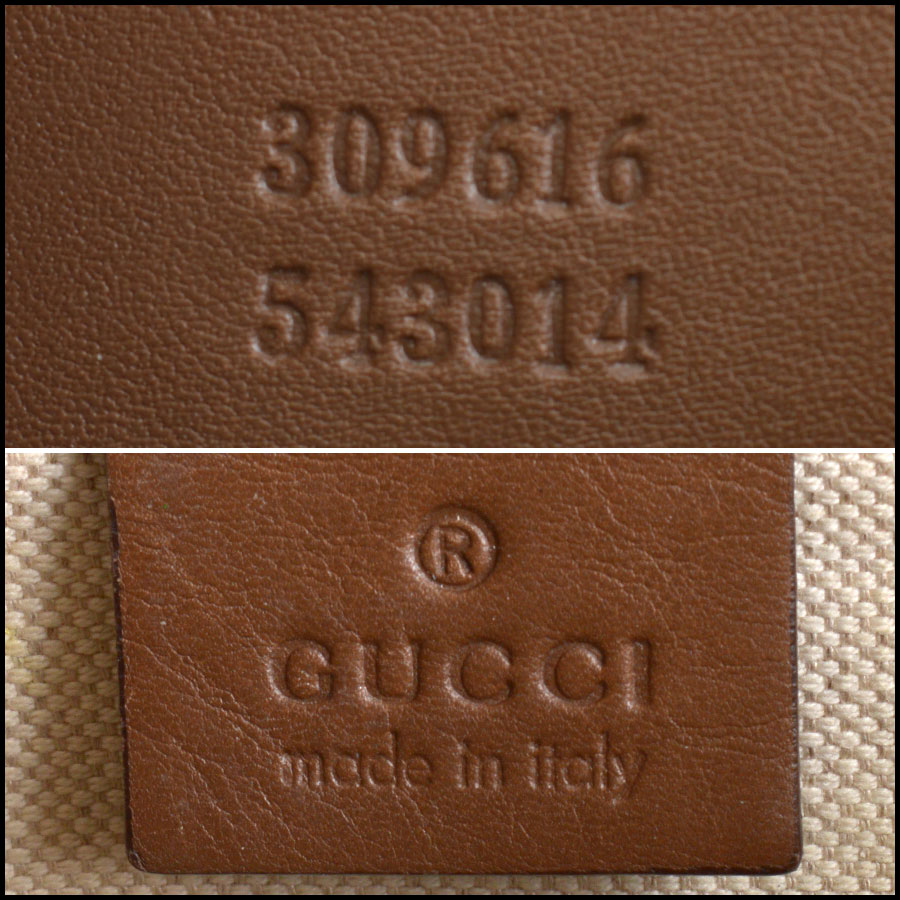 RDC10547 Gucci Coated Canvas Large Tote Bag tag