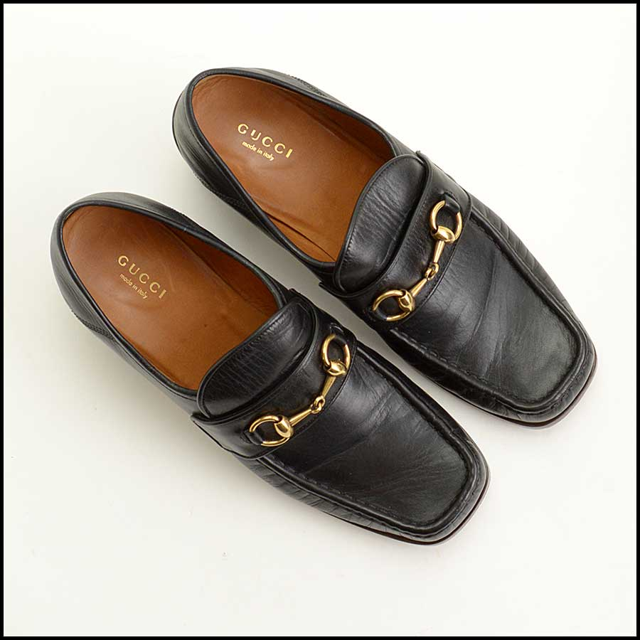 RDC11541 Gucci Black Vegas Loafers Size 41 top