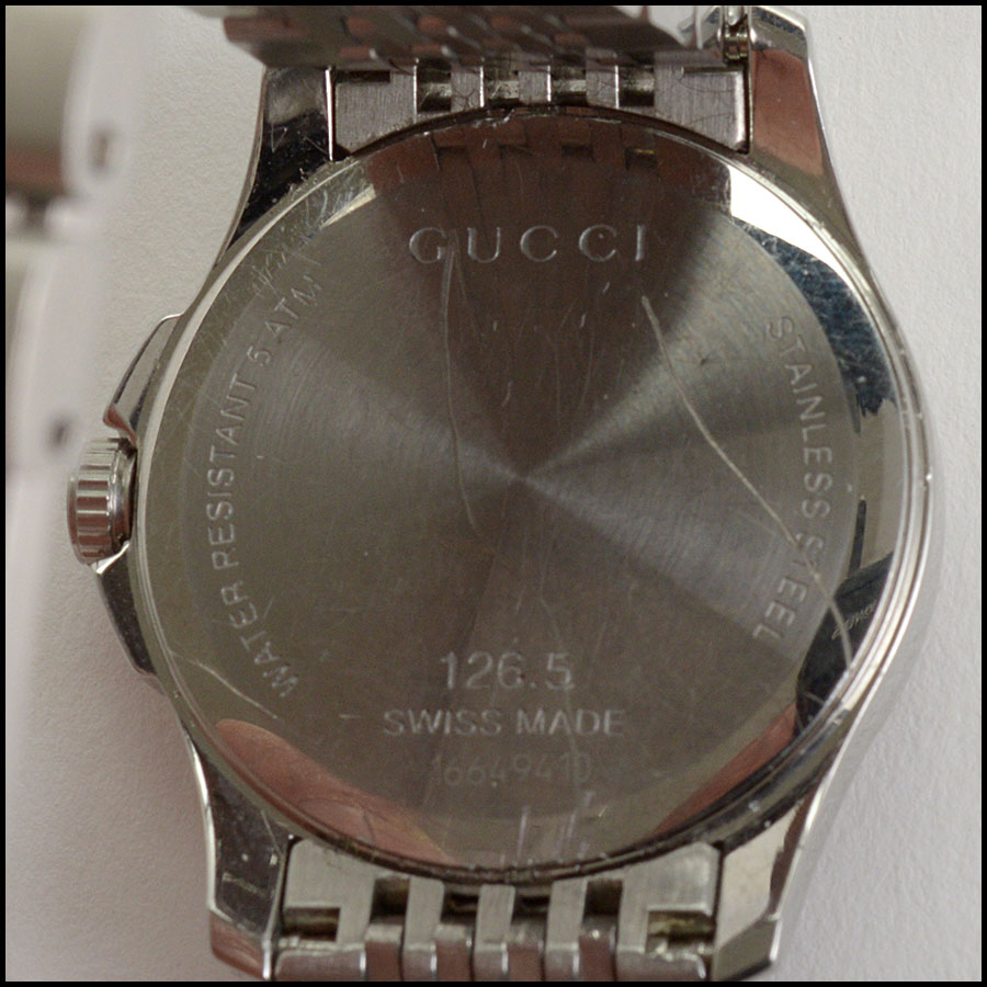 RDC10804 Gucci Stainless Steel Pink Dial Watch back