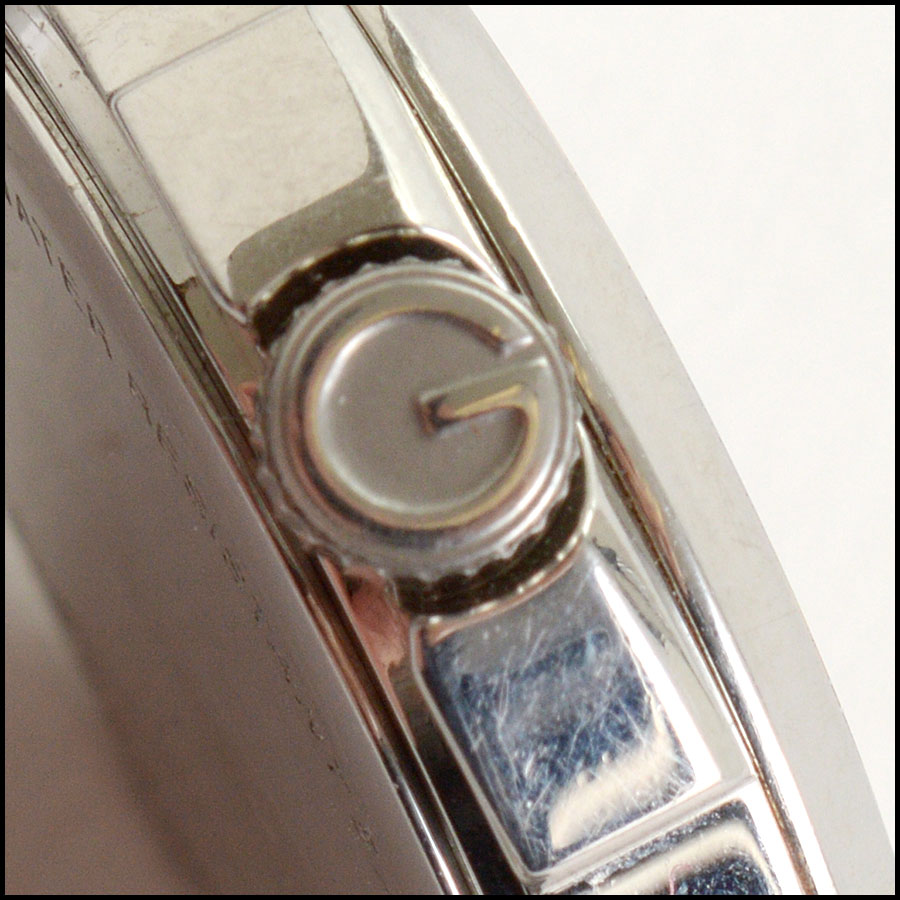 RDC10804 Gucci Stainless Steel Pink Dial Watch close up
