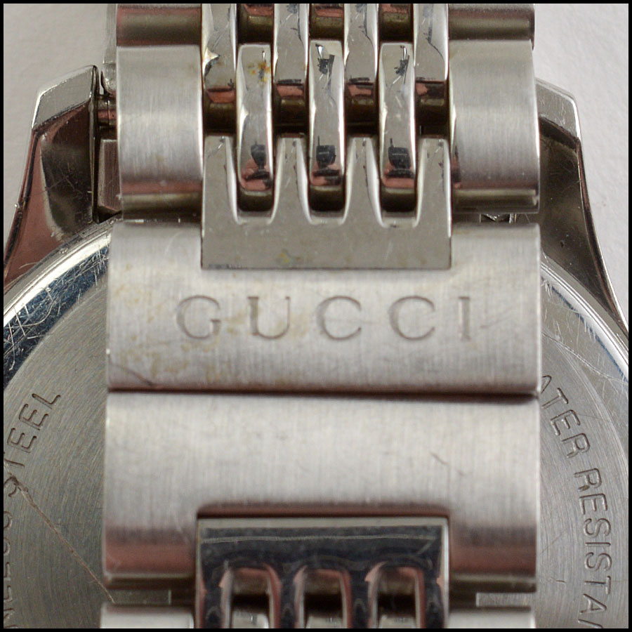 RDC10804 Gucci Stainless Steel Pink Dial Watch tag