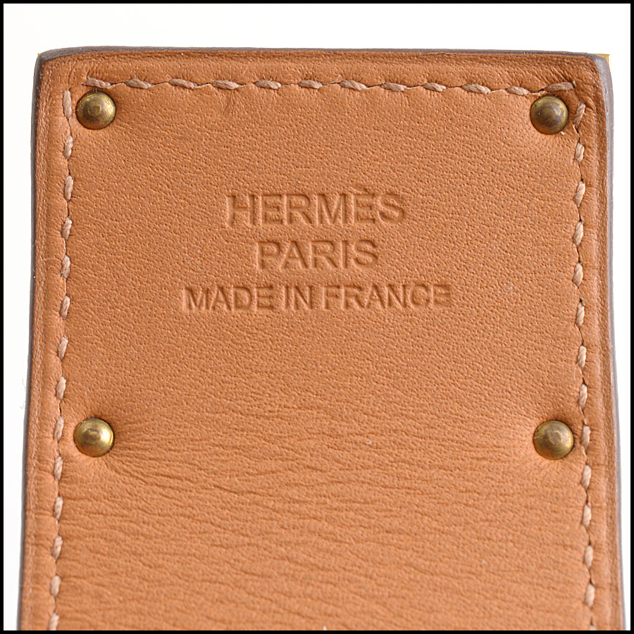 RDC10561 Hermes Red Leather Kelly Dog Bracelet tag 2