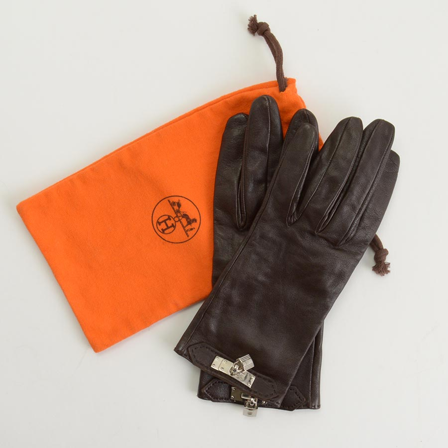RDC11252 Hermes Brown Leather Gloves includes