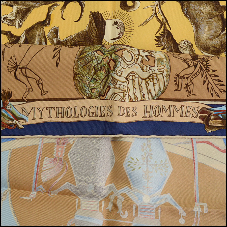 RDC10478 Les Mythologies Silk Scarf by Kermit Oliver title