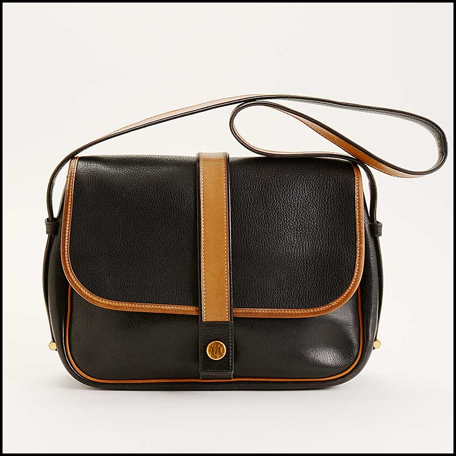 RDC11323 Hermes Black/Tan Noumea Bag