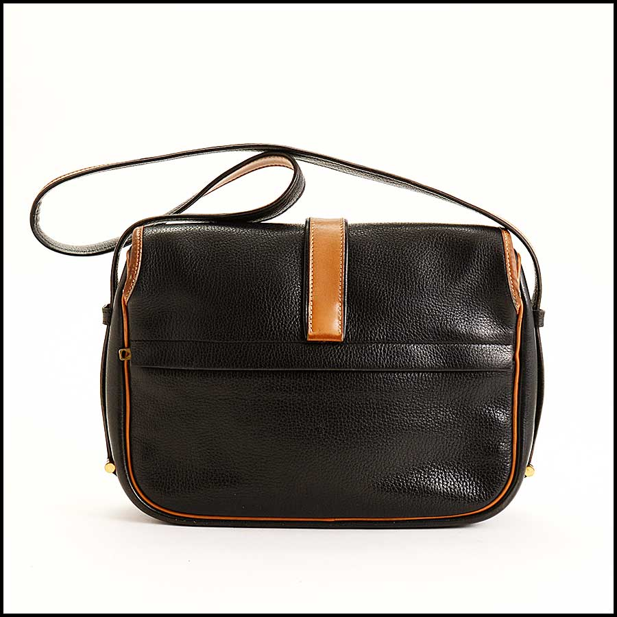 RDC11323 Hermes Black/Tan Noumea Bag back