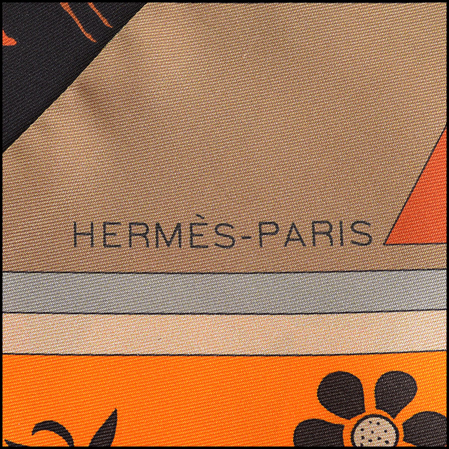 RDC10993 Hermes Multicolor Kachinas Maxi Twilly Scarf logo