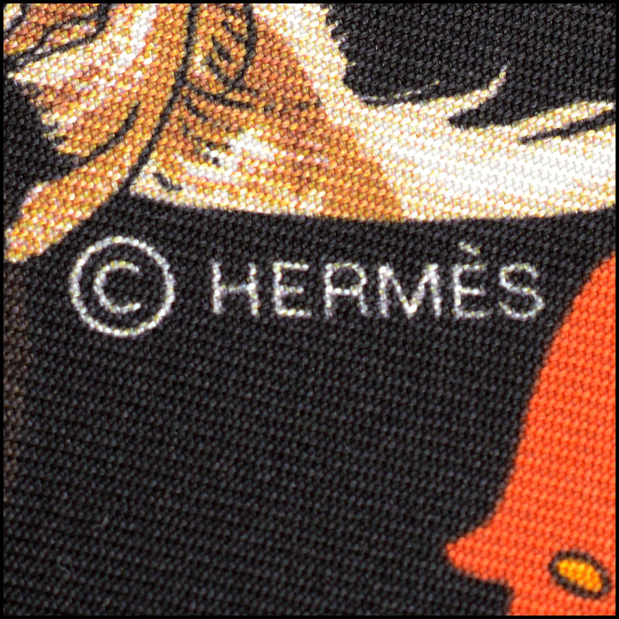 RDC10993 Hermes Multicolor Kachinas Maxi Twilly Scarf tag 1