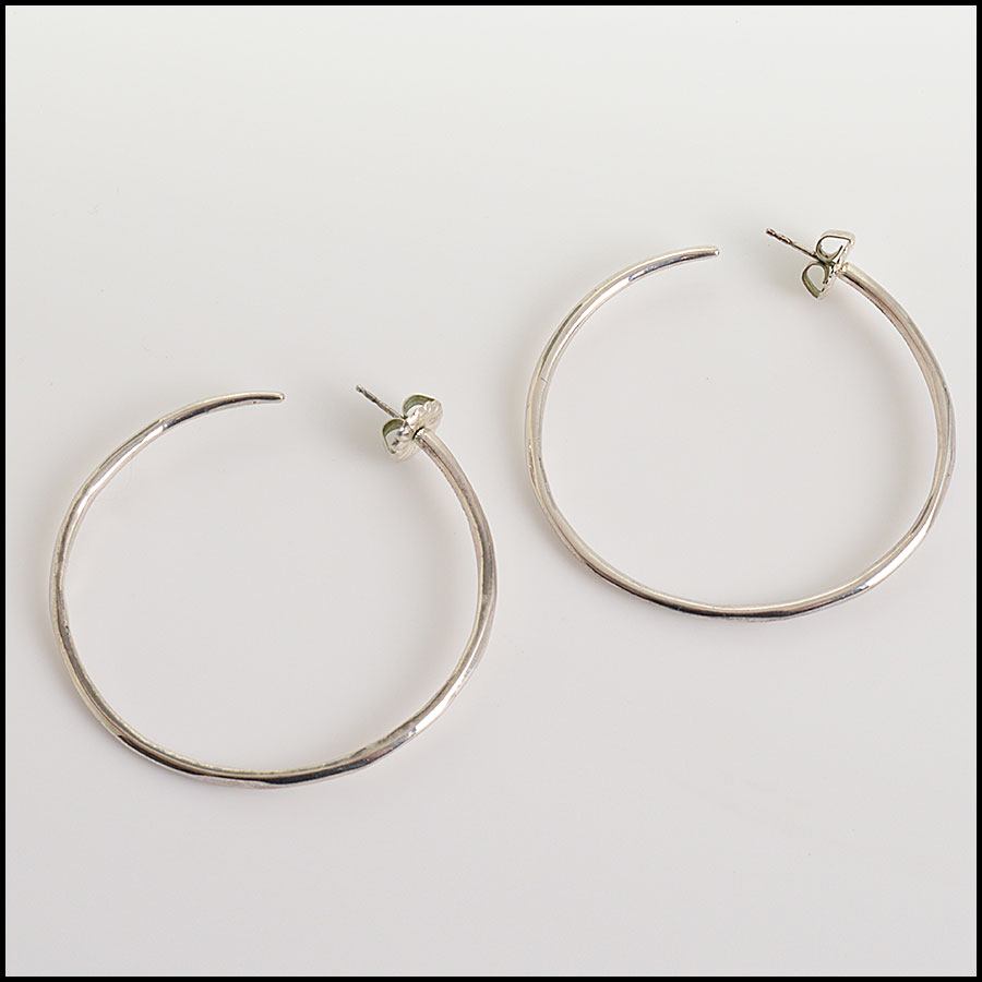 RDC10969 Ippolita Sterling Silver Large Hoop Earrings
