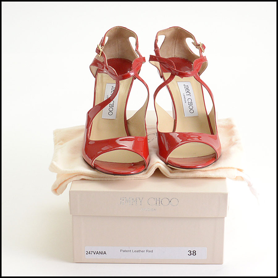 RDC10182 Jimmy Choo Red Patent Wedges