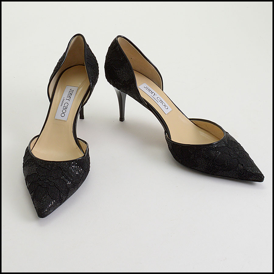 RDC10205 Jimmy Choo Black Lace Heels