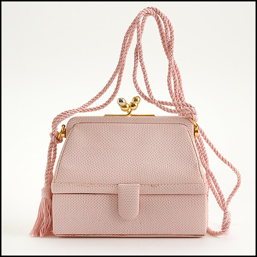 RDC11274 Judith Leiber Pink Two-Tier Bag