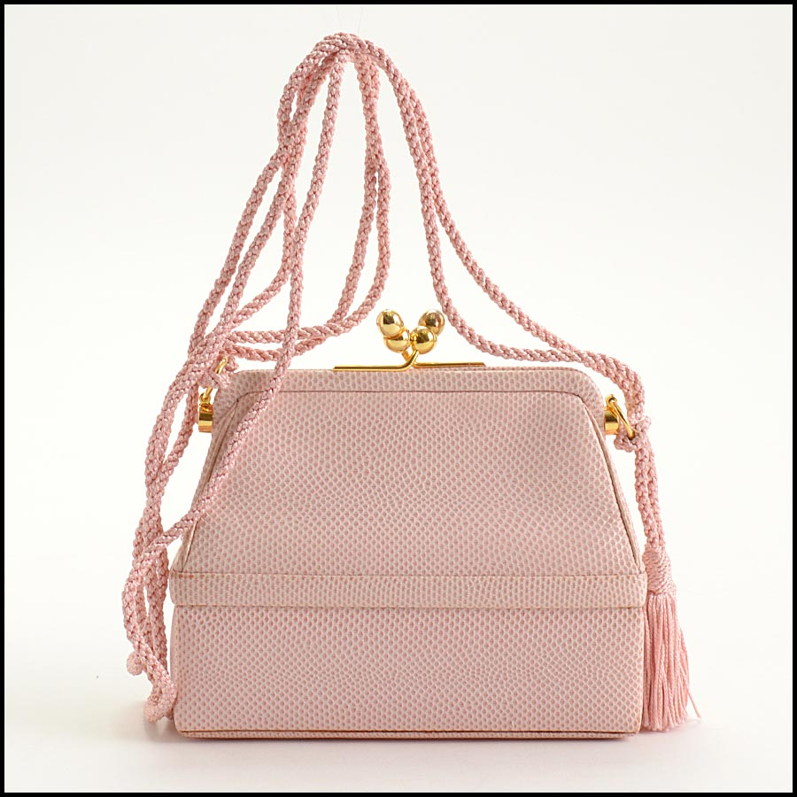 RDC11274 Judith Leiber Pink Two-Tier Bag back