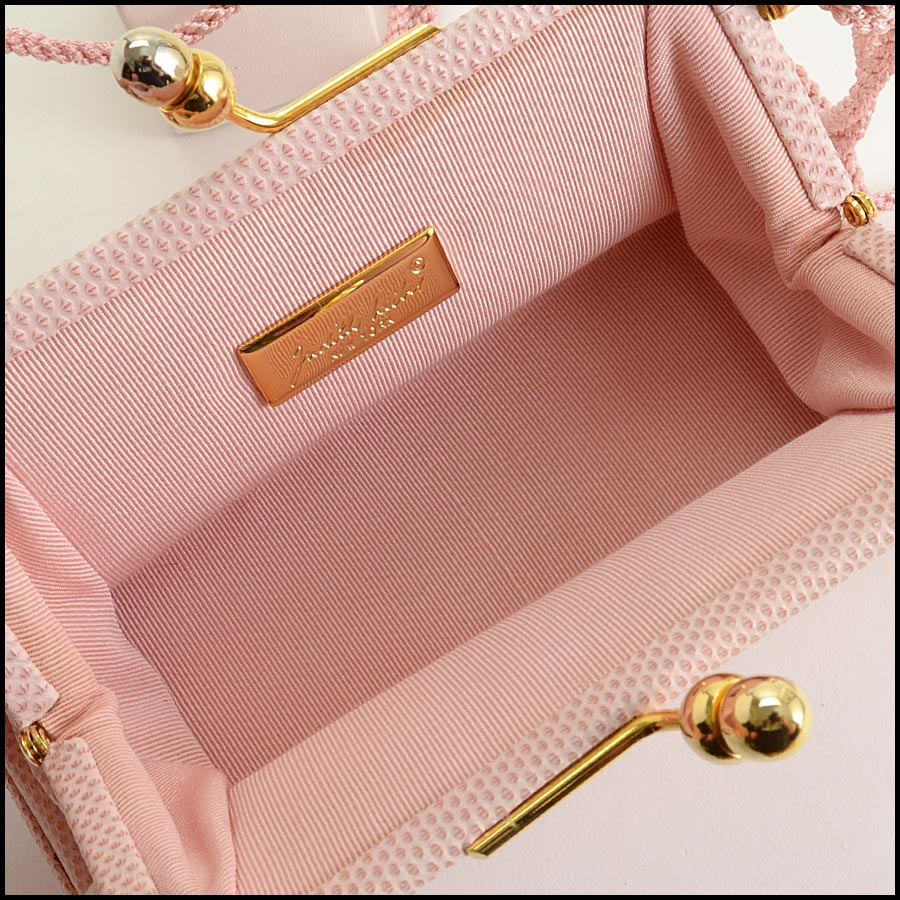 RDC11274 Judith Leiber Pink Two-Tier Bag inside