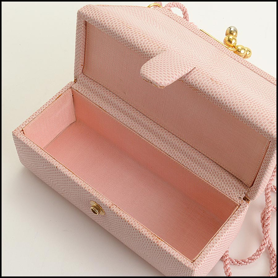 RDC11274 Judith Leiber Pink Two-Tier Bag inside 1