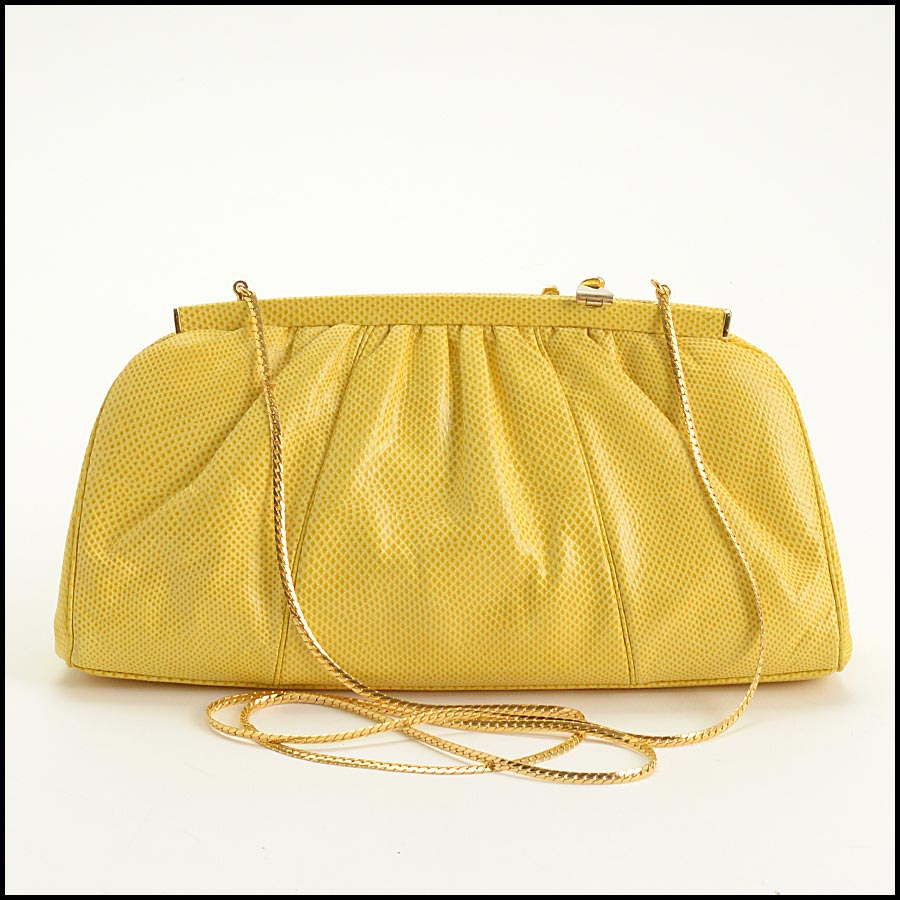 RDC11276 Judith Leiber Yellow Karung Starfish Bag back