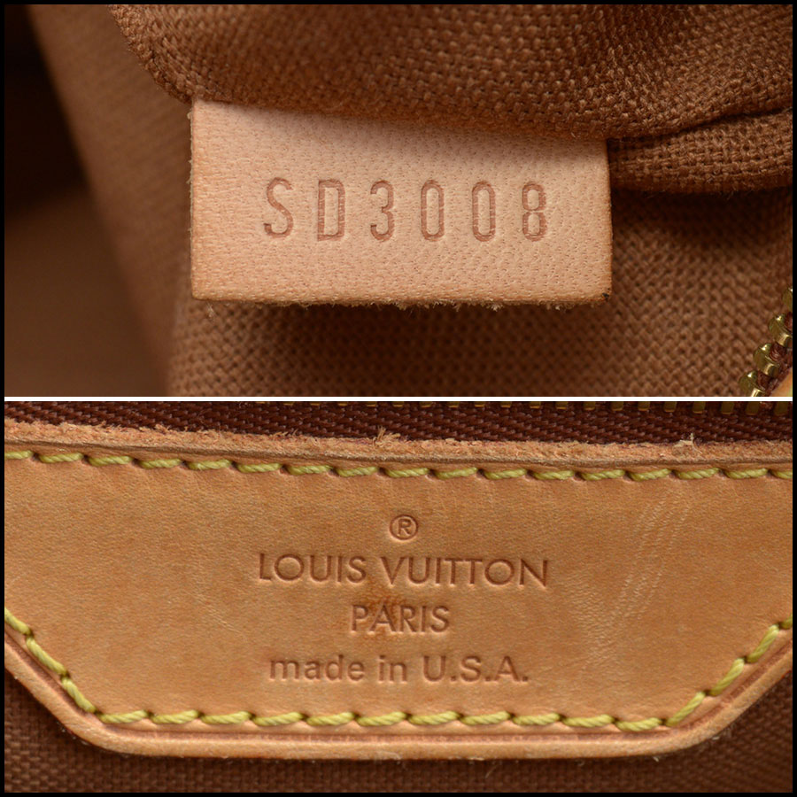 RDC10094 Louis Vuitton Batignolles tag