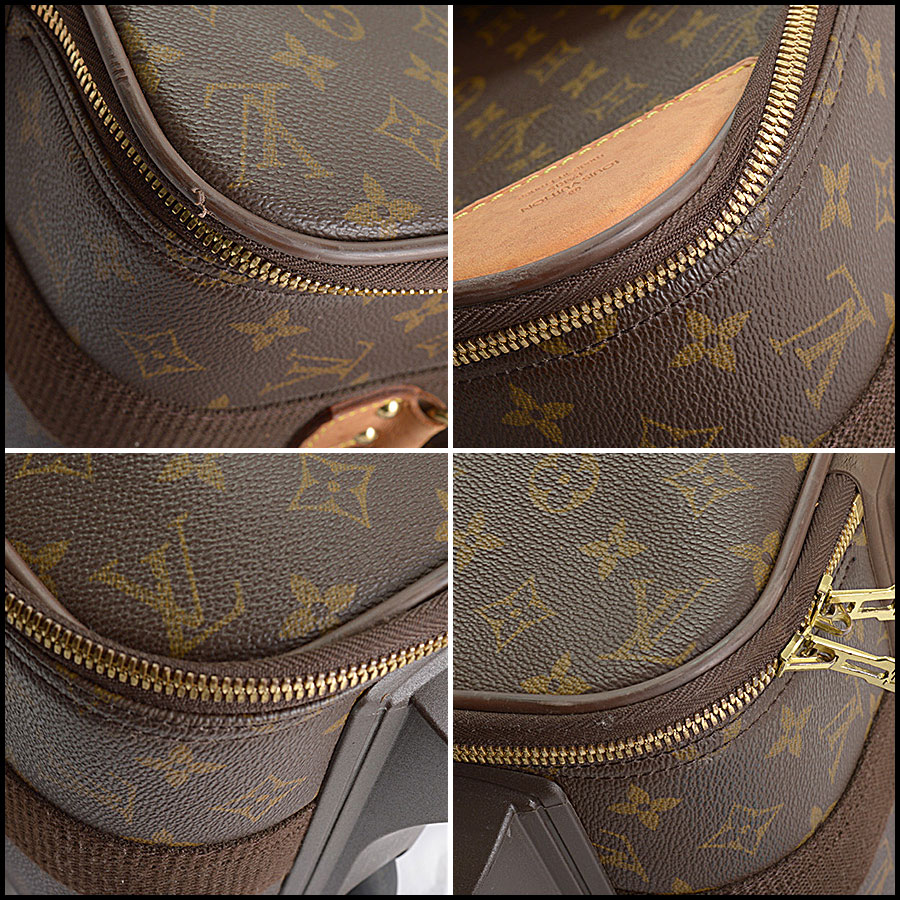 RDC10793 Louis Vuitton Monogram Pegase 55 Suitcase close up