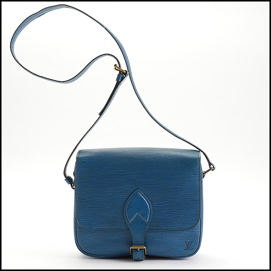 RDC11217 Louis Vuitton Blue Epi Leather Cartouchiere Crossbody