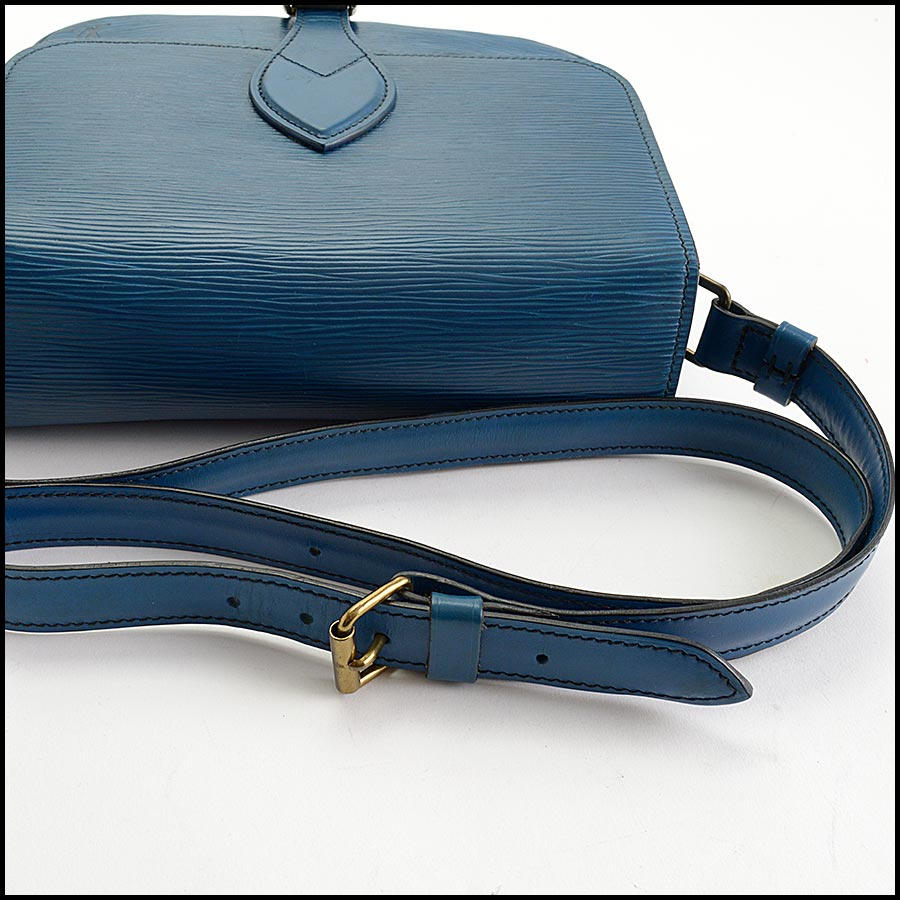 RDC11217 Louis Vuitton Blue Epi Leather Cartouchiere Crossbody handle