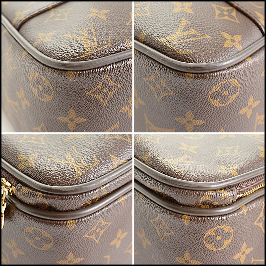 RDC10982 Louis Vuitton Monogram Computer Bag Briefcase corners