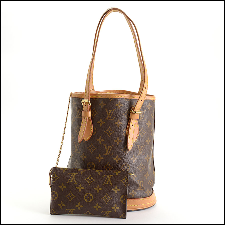 RDC10924 Louis Vuitton Monogram Petit Bucket w/Pouch