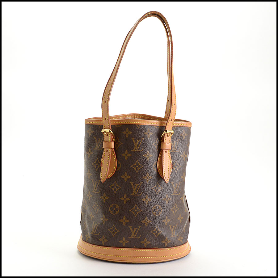 RDC10924 Louis Vuitton Monogram Petit Bucket w/Pouch includes 1