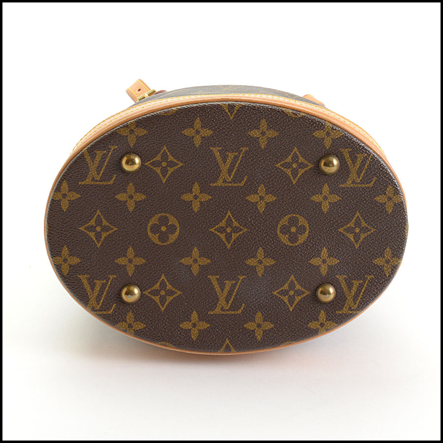 RDC10924 Louis Vuitton Monogram Petit Bucket w/Pouch includes 2