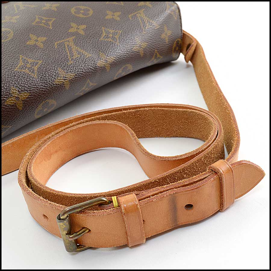 RDC11129 Louis Vuitton Monogram Cartouchiere GM Crossbody Bag handle