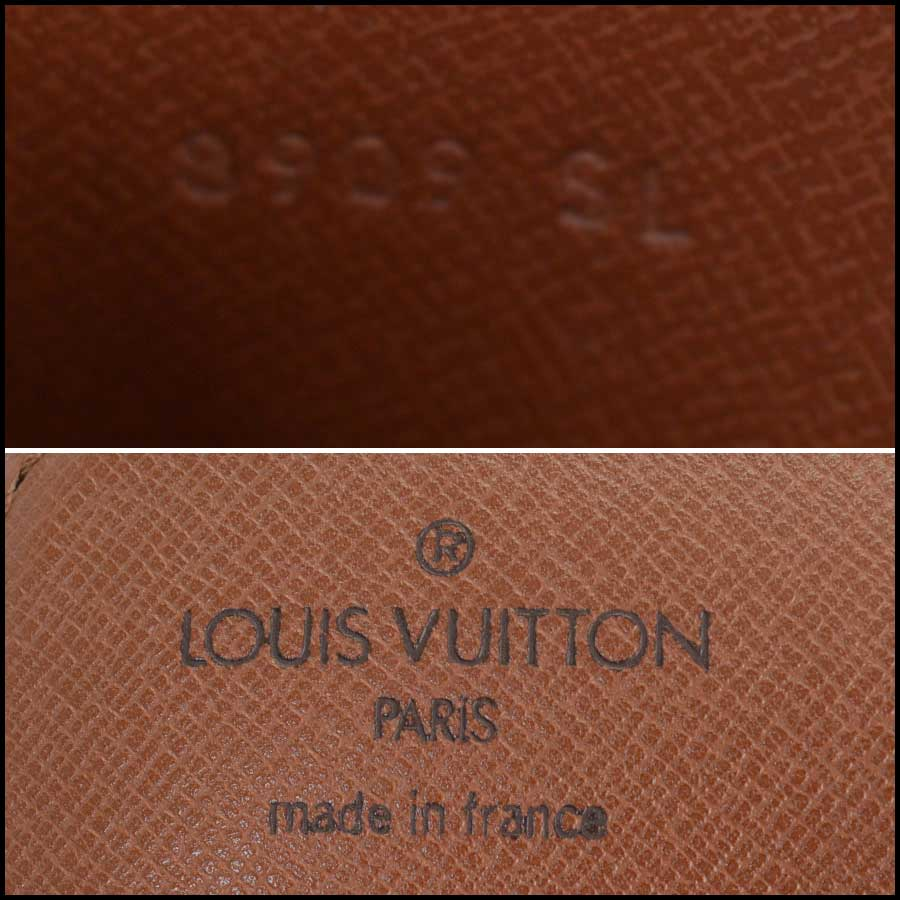 RDC11129 Louis Vuitton Monogram Cartouchiere GM Crossbody Bag tag